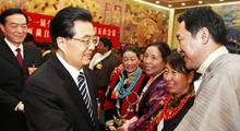 胡锦涛要求确保西藏大局稳定